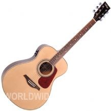 Vintage VE300N Electro Acoustic Guitar - natural finish - Brand New